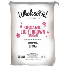 Wholesome Sweeteners Organic Light Brown Sugar 50lb.