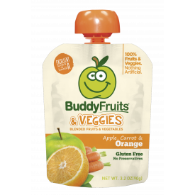 Buddy Blended Fruit Veggies Apple, Carrot & Orange - 3.2oz