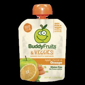 Buddy Blended Fruit Veggies Apple, Carrot & Orange - 3.2oz