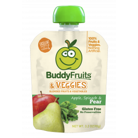 Buddy Fruits - Apple, Spinach And Veggies & Pear 3.2oz