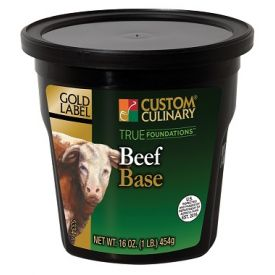 Custom Culinary Gold Label Beef Base - 1lb