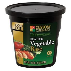 Custom Culinary Gold Label Roasted Vegetable Base - 1lb