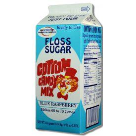 Great Western Blue Raspberry Sugar Floss - 3.25lbs