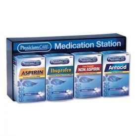 PhysiciansCare® Medication Station: Aspirin, Ibuprofen, Non Aspirin Pain Reliever, Antacid