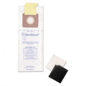 Janitized® Vacuum Filter Bags Designed to Fit Carpet Pro/CleanMax/Fuller/Tennant