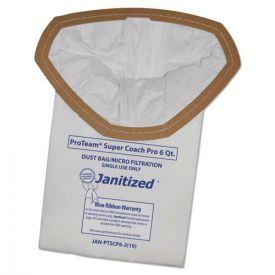Janitized® Vacuum Filter Bags Designed to Fit ProTeam Super Coach Pro 6/GoFree Pro
