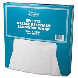 Bagcraft Grease-Resistant Paper Wraps and Liners, 12 x 12, White