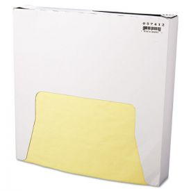 Bagcraft Grease-Resistant Paper Wraps and Liners, 12 x 12, Yellow