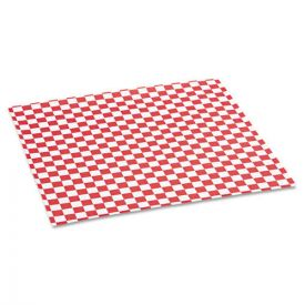 Bagcraft Grease-Resistant Paper Wraps and Liners, 12 x 12, Red Check