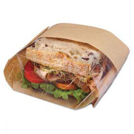 Bagcraft Dubl View Sandwich Bags, 2.35 mil, 9.5