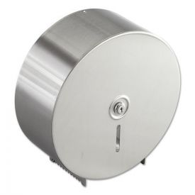 Bobrick Jumbo Toilet Tissue Dispenser, Stainless 10 21/32 x 4 1/2 x 10 5/8