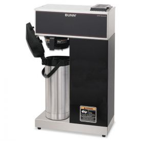 BUNN® VPR Two Burner Pourover Coffee Brewer, Stainless Steel, Black