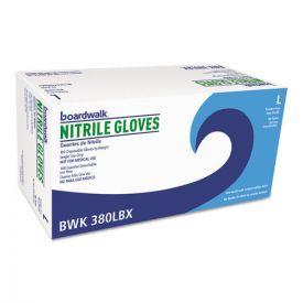 Boardwalk® Disposable General-Purpose Nitrile Gloves, Large, Blue, 4mil.