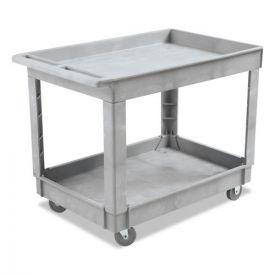 Boardwalk® Utility Cart, Two-Shelf, Plastic Resin, 24w x 40d, Gray