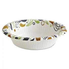 Boardwalk® Deerfield Printed Paper Bowl, 12 oz, Coated/Soak Proof