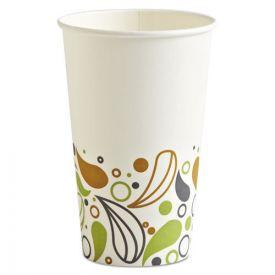 Boardwalk® Deerfield Printed Paper Hot Cups, 16 oz
