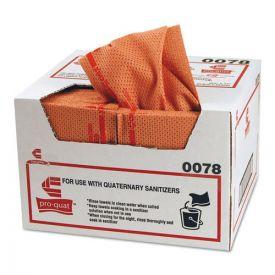 Chix® Pro-Quat Fresh Guy Food Service Towels, Heavy Duty, 12 1/2 x 17, Red