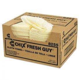Chix® Fresh Guy Towels, 13 1/2 x 13 1/2, Yellow