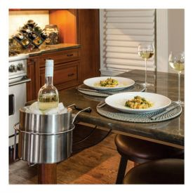 C-Line® Wine By Your Side, Steel Frame/Red Wine Adapter/Ice Bucket, Stainless Steel