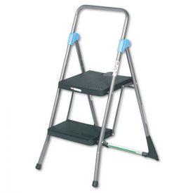 Cosco® Commercial 2-Step Folding Stool, 300 lb Capacity, 20.5w x 24.75d x 39.5h