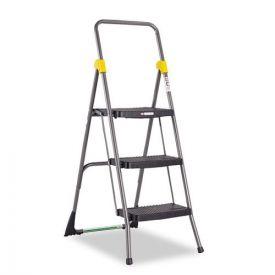 Cosco® Commercial 3-Step Folding Stool, 300 lb Capacity, 20.5w x 32.63d x 52.13h