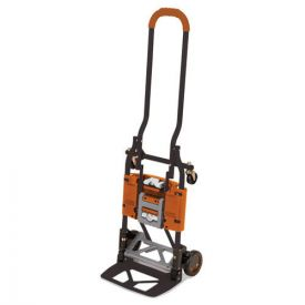 Cosco® 2-in-1 Multi-Position Hand Truck and Cart, 16.63 x 12.75 x 49.25, Gray/Orange