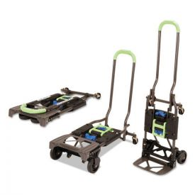 Cosco® 2-in-1 Multi-Position Hand Truck and Cart, 16.63 x 12.75 x 49.25, Blue/Green