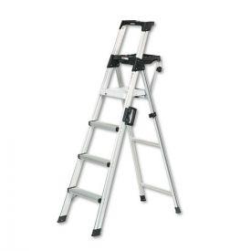 Cosco® Signature Series Aluminum Step Ladder, 6 ft work height, 300 lb Capacity, 4 Step