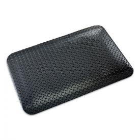 Crown Industrial Deck Plate Anti-Fatigue Mat, Vinyl, 36 x 60, Black