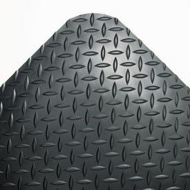 Crown Industrial Deck Plate Anti-Fatigue Mat, Vinyl, 36 x 144, Black