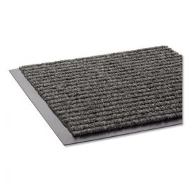 Crown Needle Rib Wipe and Scrape Mat, Polypropylene, 48 x 72, Gray