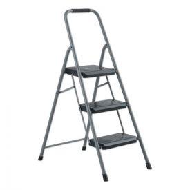 Louisville® Black and Decker Steel Step Stool, 3-Step, 200 lb Capacity, Gray