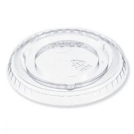 Dart® Plastic Cold Cup Lid for 5oz. No Hole, Clear