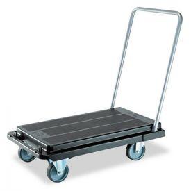 deflecto® Heavy-Duty Platform Cart, 500 lb Capacity, 21 x 32.5 x 37.5, Black