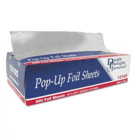 Durable Packaging Pop-Up Aluminum Foil Sheets, 12