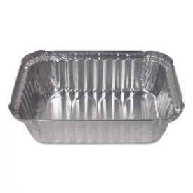 Durable Packaging Aluminum Closeable Containers, 1.5lb Deep Oblong