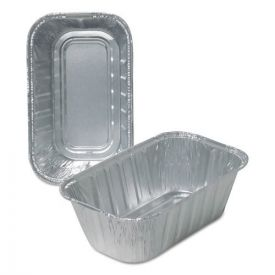 Durable Packaging Aluminum Loaf Pans, 1lb