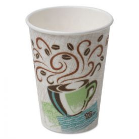 Dixie® PerfecTouch Paper Hot Cups, 12oz, Coffee Haze
