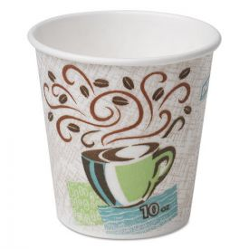 Dixie® PerfecTouch Paper Hot Cups, 10oz, Coffee Haze