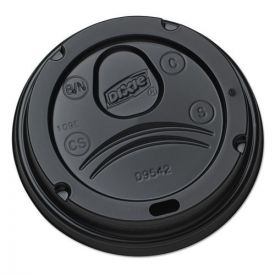 Dixie® Drink-Thru Lids for 10-20oz Cups, Plastic, Black