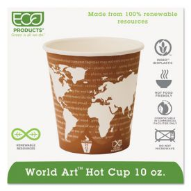 Eco-Products® World Art Renewable & Compostable Hot Cups, 10oz.