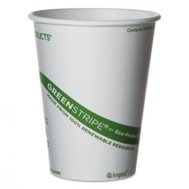Eco-Products® GreenStripe Renewable & Compostable Hot Cups - 12 oz.