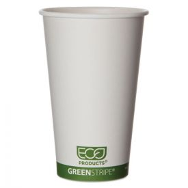 Eco-Products® GreenStripe Renewable & Compostable Hot Cups - 16 oz.