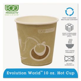 Eco-Products® Evolution World 24% Recycled Content Hot Cups - 10oz.