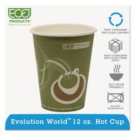 Eco-Products® Evolution World 24% Recycled Content Hot Cups - 12oz.