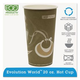 Eco-Products® Evolution World 24% Recycled Content Hot Cups - 20oz.