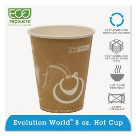 Eco-Products® Evolution World 24% Recycled Content Hot Cups - 8oz.