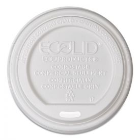Eco-Products® EcoLid Renewable/Compostable Hot Cup Lids, PLA Fits 8 oz.