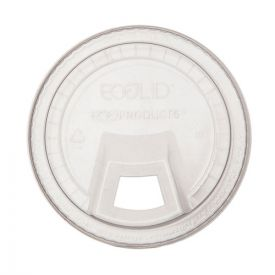 Eco-Products® GreenStripe Cold Cup Sip Lid, Fits 9-24oz. Cups, Clear