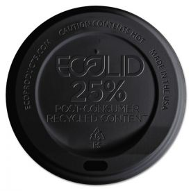 Eco-Products® EcoLid 25% Recy Content Hot Cup Lid, Black, F/10-20oz